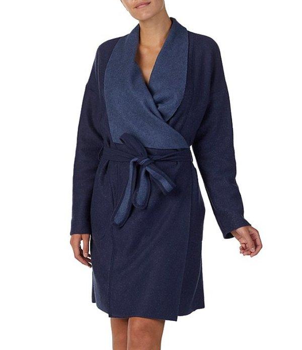 ダナキャラン レディース ナイトウェア アンダーウェア Donna Karen Cocoon Short Wrap Robe Indigo