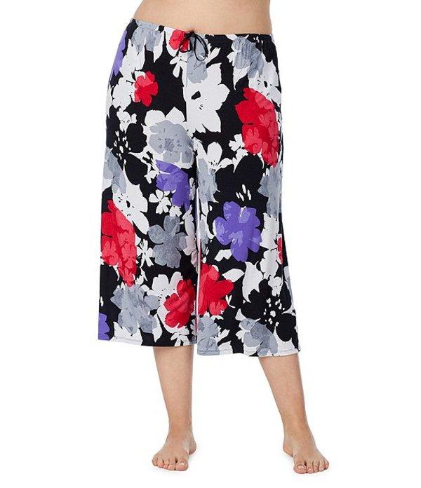ダナキャラン レディース ナイトウェア アンダーウェア Plus Floral Reflection Wide Leg Capri Sleep Pants Black/Multi