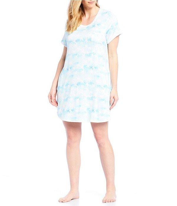 ケンジー レディース ナイトウェア アンダーウェア Plus Palm Beach Tie-Dye Printed Knit Sleepshirt Mint/Multi
