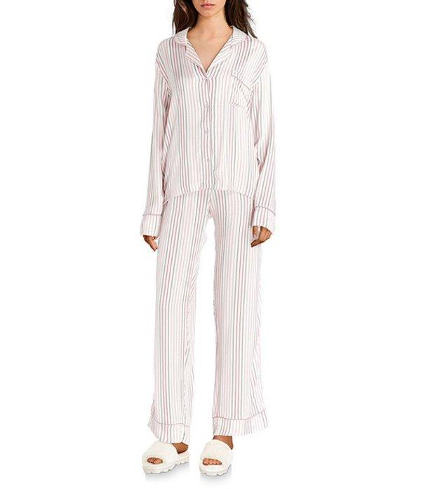 スプレンディット レディース ナイトウェア アンダーウェア Striped Print Woven Pajama Set Multi