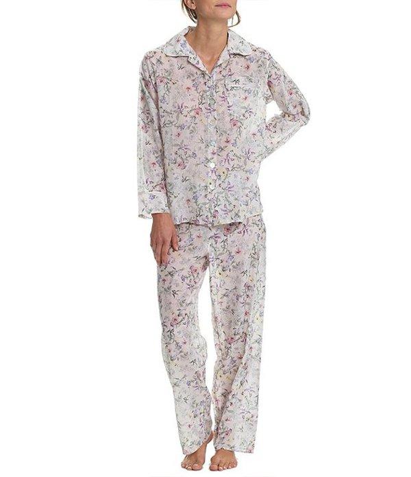 パピネール レディース ナイトウェア アンダーウェア Emmy Woven Notch Collar Pajamas Musk Floral