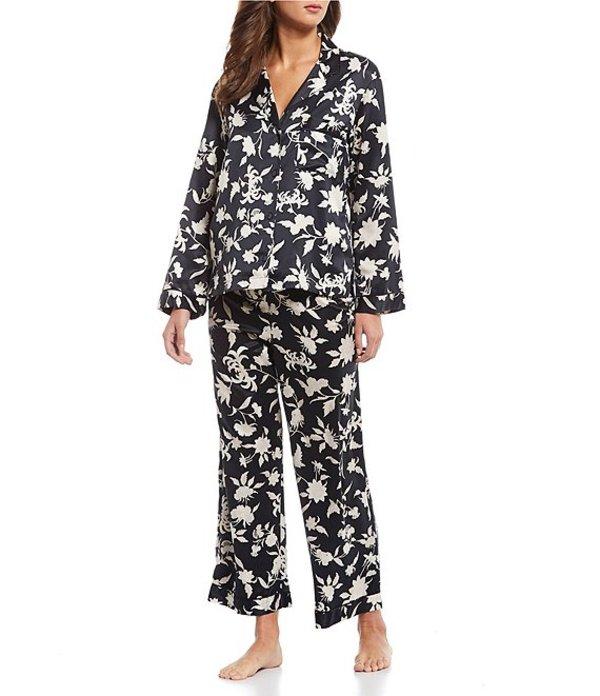 ナトリ レディース ナイトウェア アンダーウェア Fiesta Printed Satin Floral Print Pajama Set Black/Cocoon