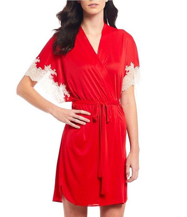 ナトリ レディース ナイトウェア アンダーウェア Enchant Silky Knit Wrap Robe Crimson Red