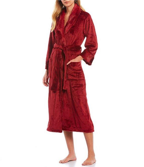 ナトリ レディース ナイトウェア アンダーウェア Fleece Long Wrap Robe Ruby