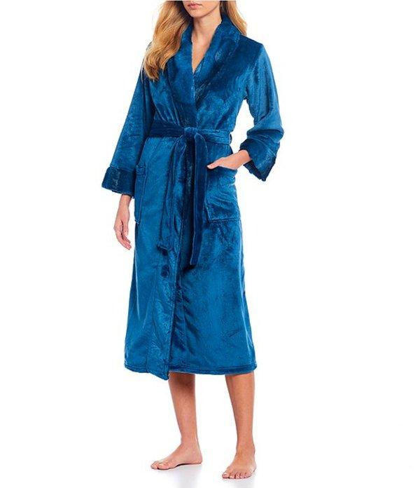 ナトリ レディース ナイトウェア アンダーウェア Fleece Long Wrap Robe Sea Blue