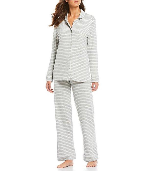 パピネール レディース ナイトウェア アンダーウェア Kate Stripe Print Modal Pajama Set Medium Grey