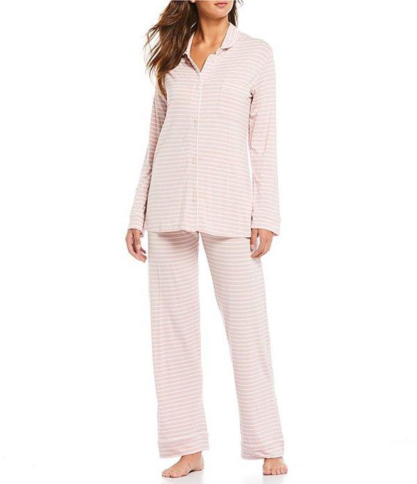パピネール レディース ナイトウェア アンダーウェア Kate Stripe Print Modal Pajama Set Musk