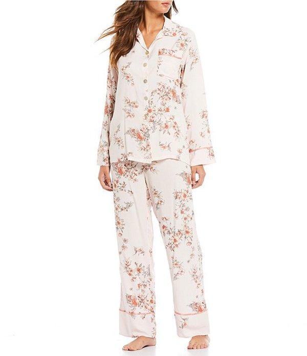 パピネール レディース ナイトウェア アンダーウェア Jardin Floral Print Pajama Set Light Pink