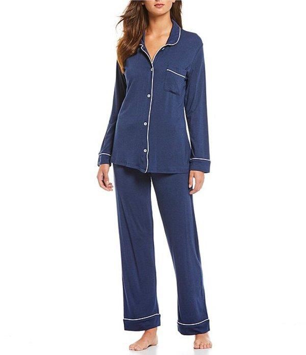 パピネール レディース ナイトウェア アンダーウェア Kate Solid Modal Pajama Set Navy