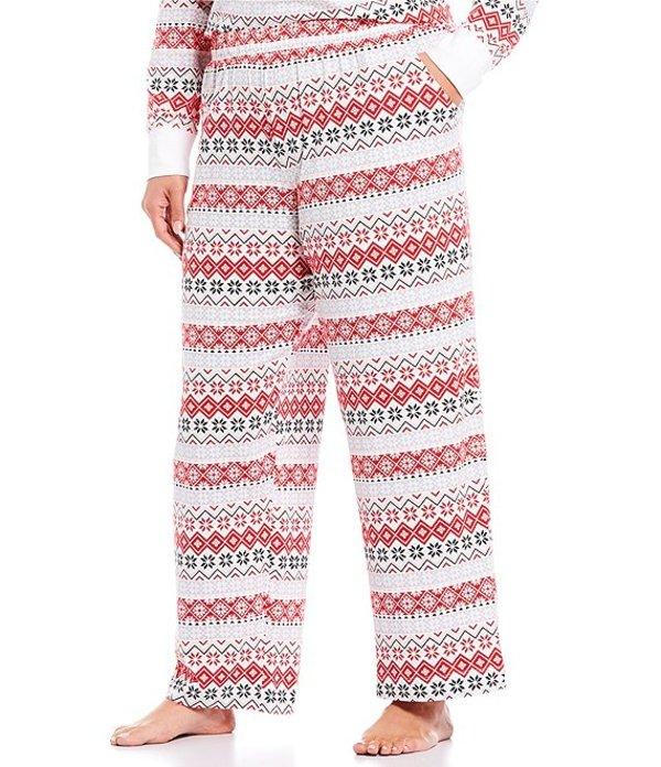 スリープ センス レディース ナイトウェア アンダーウェア Plus Fair isle-Printed Sleep Pants Whiteness