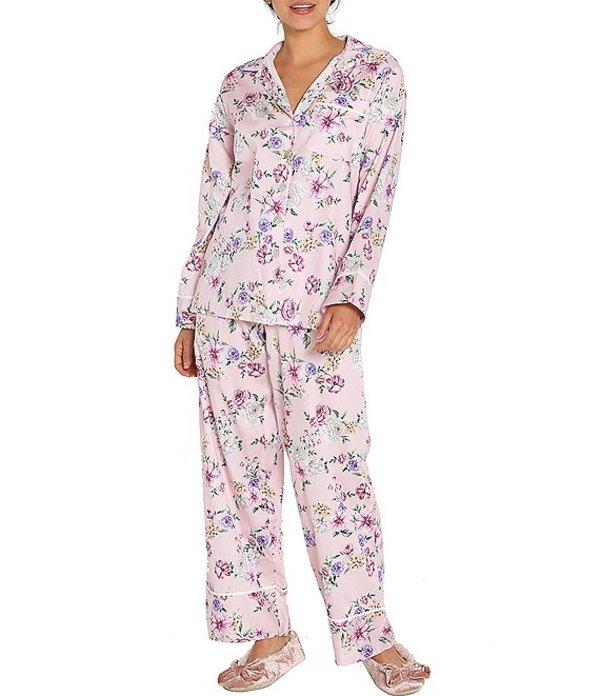 パピネール レディース ナイトウェア アンダーウェア Fleur Print Classic Woven Pajama Set Light Pink