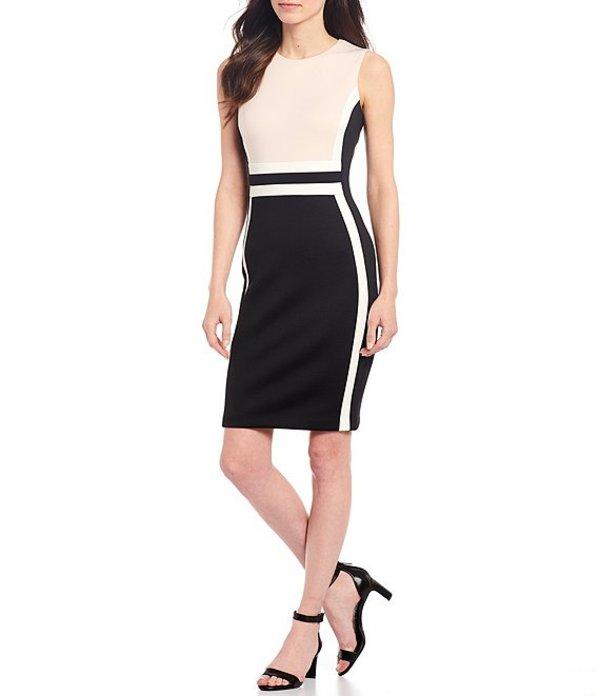 カルバンクライン レディース ワンピース トップス Colorblock Sheath Dress Petal/Black/Cream