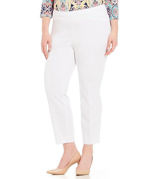 インベストメンツ レディース カジュアルパンツ ボトムス Plus Size the PARK AVE fit Classic Ankle Pant White