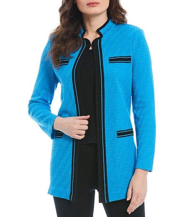 ミンウォン レディース ジャケット・ブルゾン アウター Notch Collar Long Sleeve Jacket Azure Blue/Black