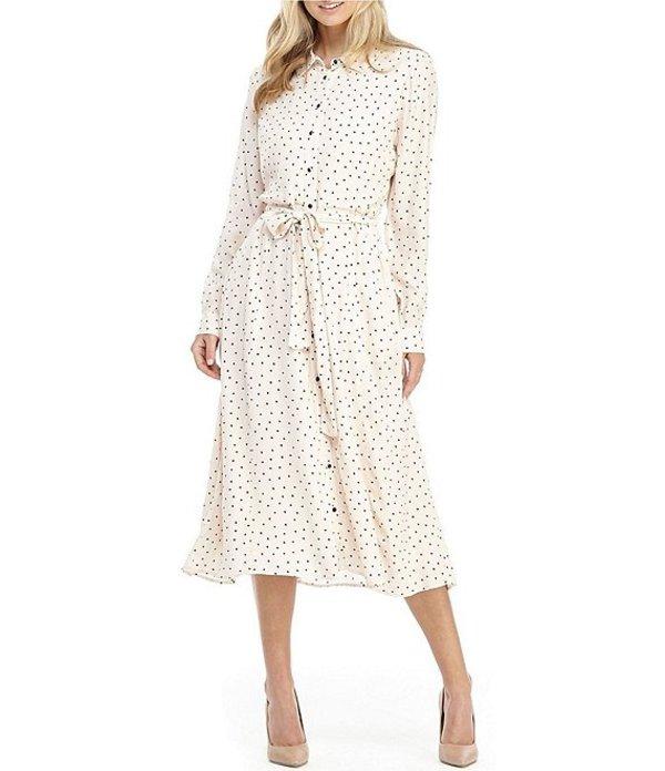 ギャルミーツグラム レディース ワンピース トップス Victoria Polka Dot Midi Shirt Dress Oatmeal