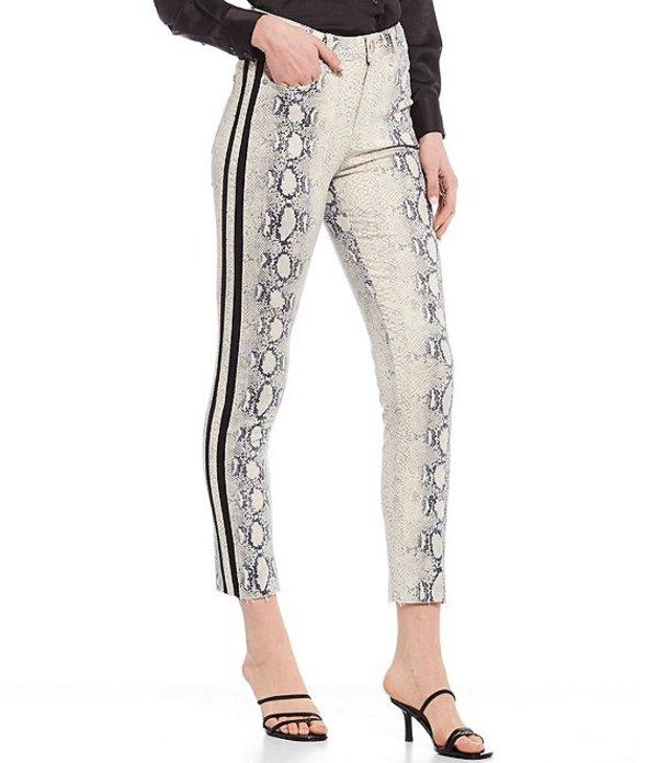 ジャンビニ レディース デニムパンツ ボトムス Fiona Snake Print Straight Leg Jeans Snake