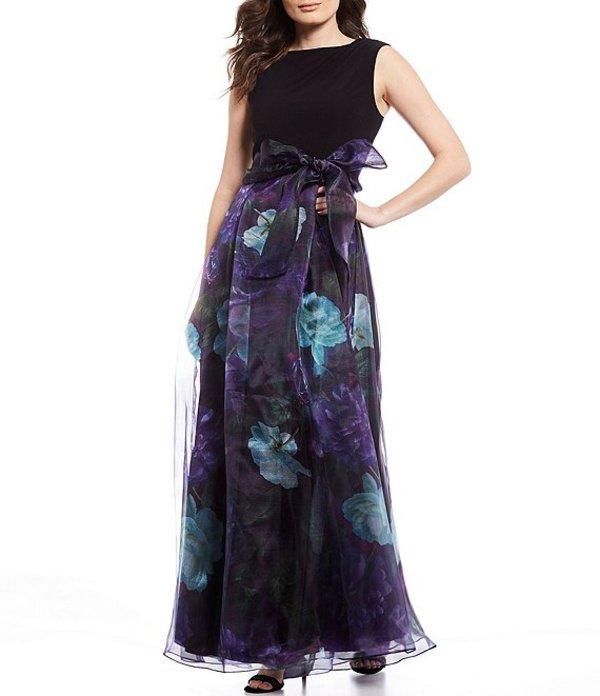 イグナイト レディース ワンピース トップス Floral Print Organza Ballgown Purple Multi