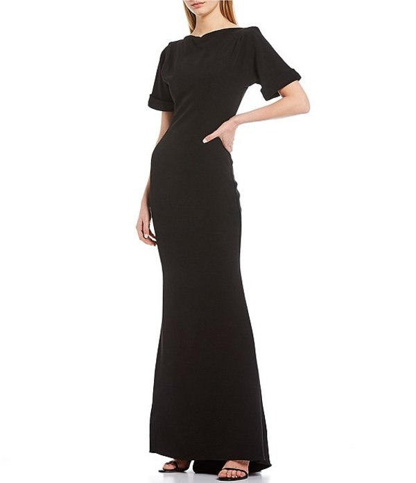 バッジェリーミシュカ レディース ワンピース トップス Low Scoop Back Stretch Crepe Dress Black