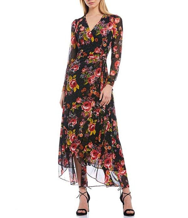 ベッツィジョンソン レディース ワンピース トップス Floral Print Mesh Wrap Tulip Hem Hi-Low Maxi Dress Into the Wild Print
