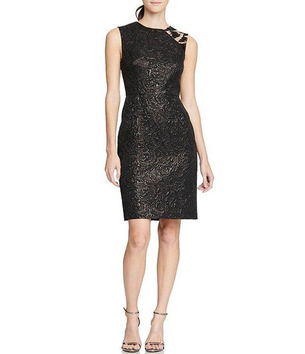 ホルストンヘリテイジ レディース ワンピース トップス Heritage Embellish Coated Jacquard Sleeveless Sheath Dress Black