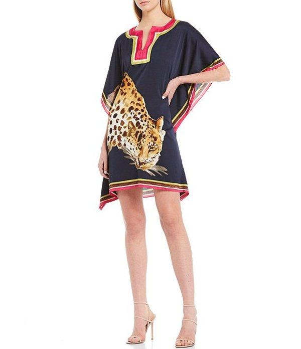 トリーナターク レディース ワンピース トップス Theodora Leopard Graphic Caftan Dress Indigo