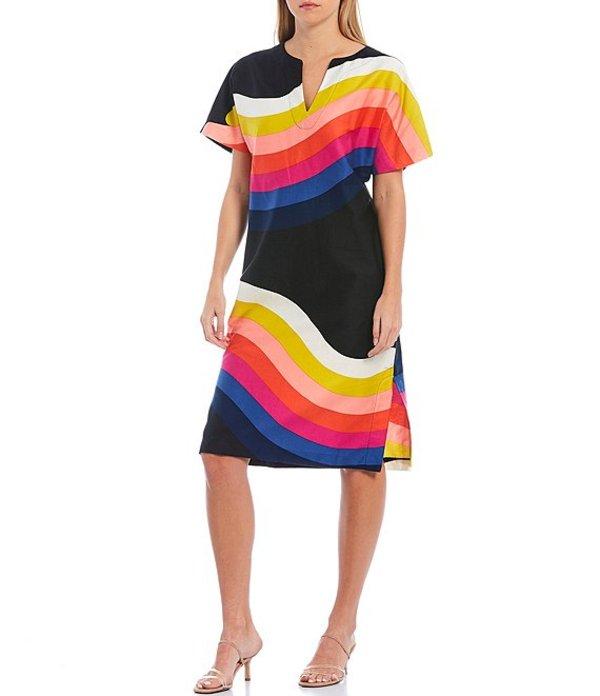 トリーナターク レディース ワンピース トップス Honolulu Cotton Stripe Print Dress Black