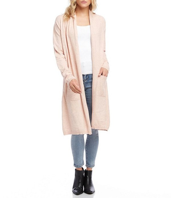 カレンケーン レディース パーカー・スウェット アウター Mid Length Long Sleeve Duster Pastel Pink