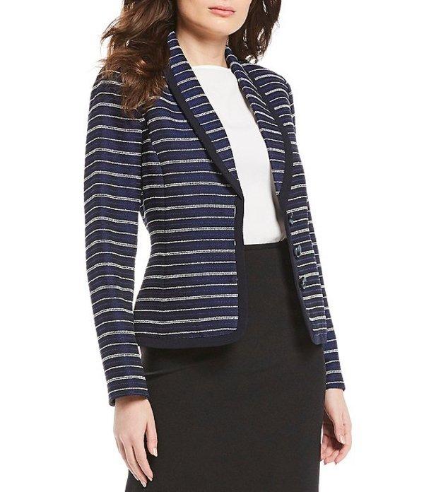 プレストンアンドヨーク レディース ジャケット・ブルゾン アウター Zia Tweed Stripe Blazer Navy/Blue/Ivory