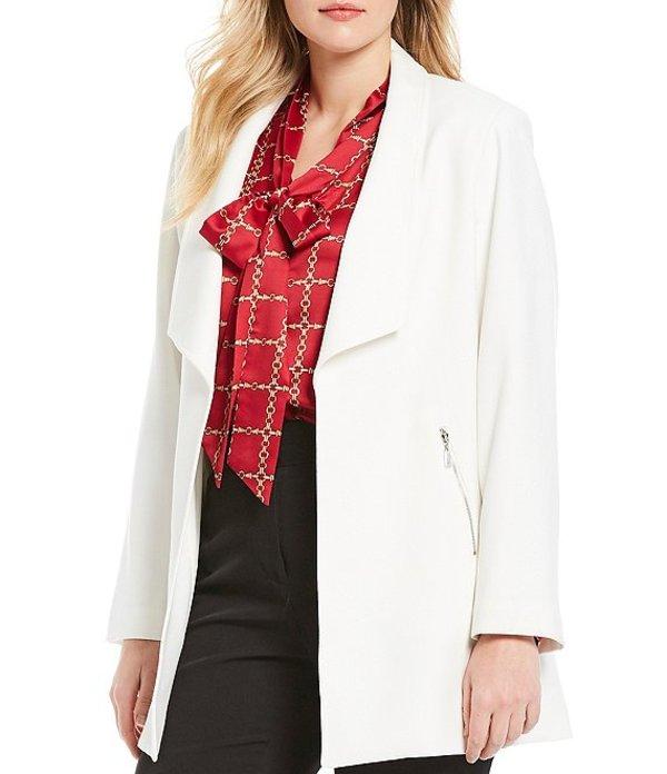 タハリエーエスエル レディース ジャケット・ブルゾン アウター Plus Size Long Sleeve Double Weave Open Topper Jacket Winter White