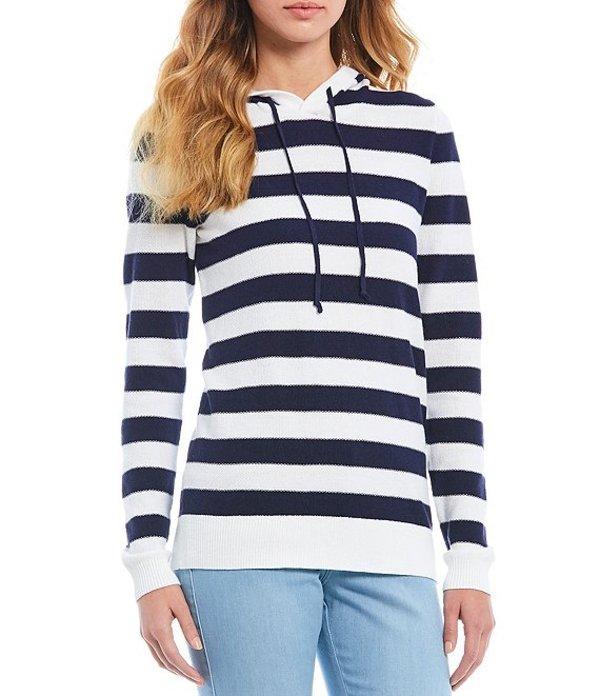 サウザーンタイド レディース パーカー・スウェット アウター Luis Stripe Hooded Cotton Blend Sweater Nautical Navy