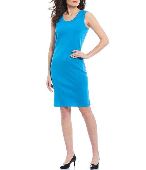 ミンウォン レディース ワンピース トップス Washable Scoop Neck Tank Dress Azure Blue