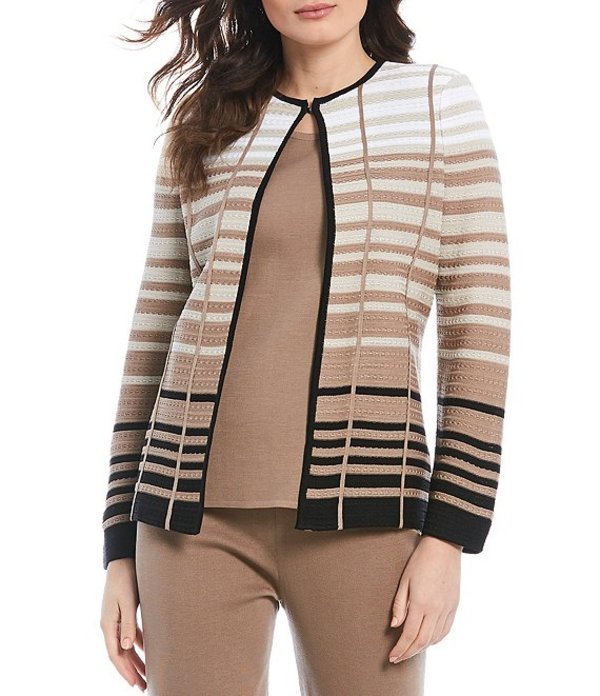 ミソック レディース ジャケット・ブルゾン アウター Long Sleeve Tonal Stripe Jacket Macchiato/Multi