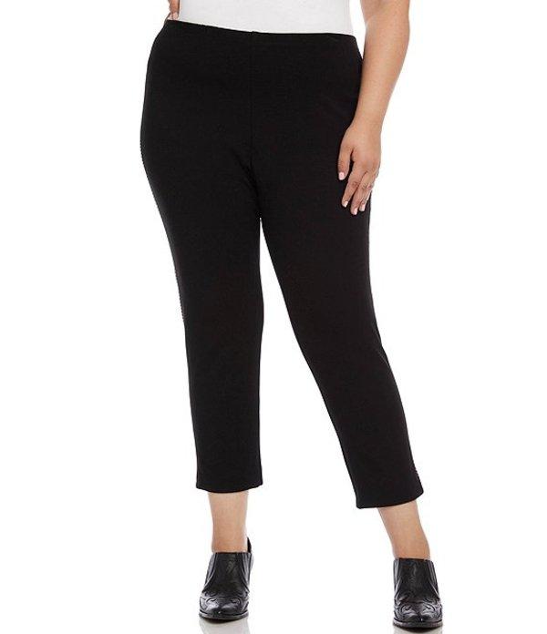 カレンケーン レディース デニムパンツ ボトムス Plus Size Saddle Stitch Piper Ankle Pants Black