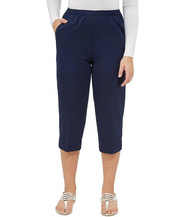 アリソン デイリー レディース カジュアルパンツ ボトムス Petites Pull-On Capri Pants True Navy