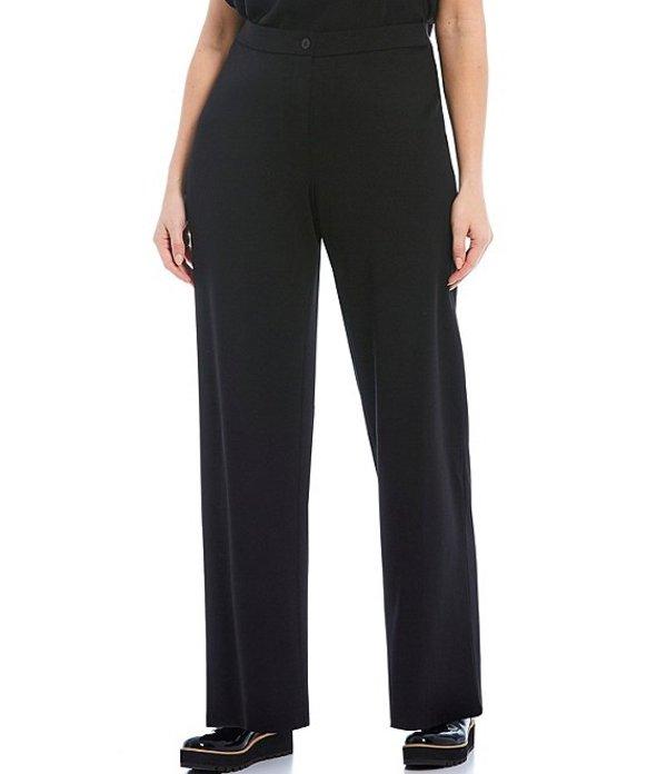 エイリーンフィッシャー レディース カジュアルパンツ ボトムス Plus Size Travel Ponte Straight Full Length Pants Black