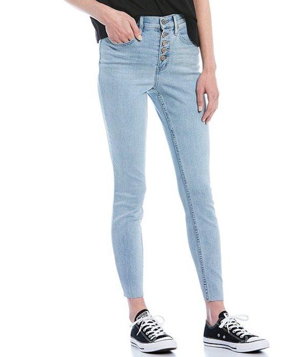 カルバンクライン レディース デニムパンツ ボトムス Jeans Skinny High Rise Raw Hem Jeans Glacier