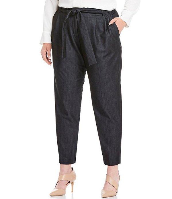 カルバンクライン レディース カジュアルパンツ ボトムス Plus Size Slim-Leg Self Tie Belt Pants Indigo