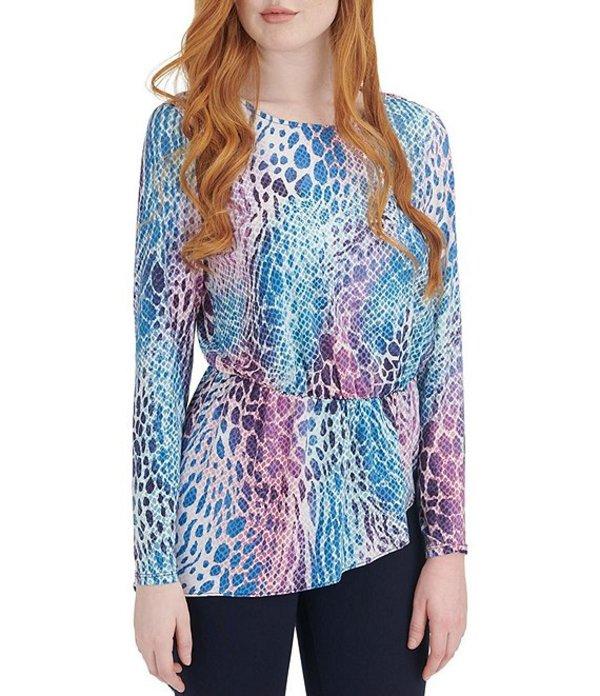 ピーター ナイガード レディース シャツ トップス Knit Chiffon Leopard Print Hi-Low Asymmetric Tunic Pink/Multi/Animal