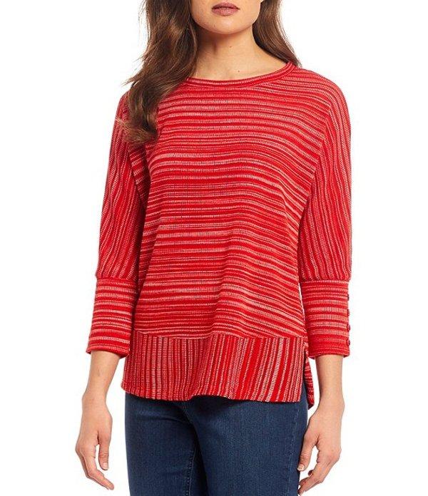 ウエストバウンド レディース Tシャツ トップス 3/4 Sleeve Button Cuff Top Mars Red