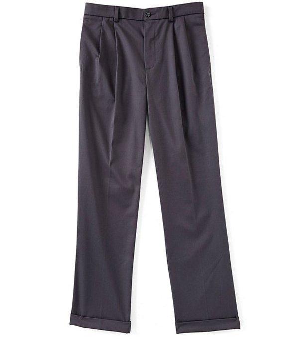 ラウンドトゥリーアンドヨーク メンズ カジュアルパンツ ボトムス TotalFLEX Classic Fit Pleated CoreComfort Waistband Easy Care Pants Grey SmokeBCQsdthrxo