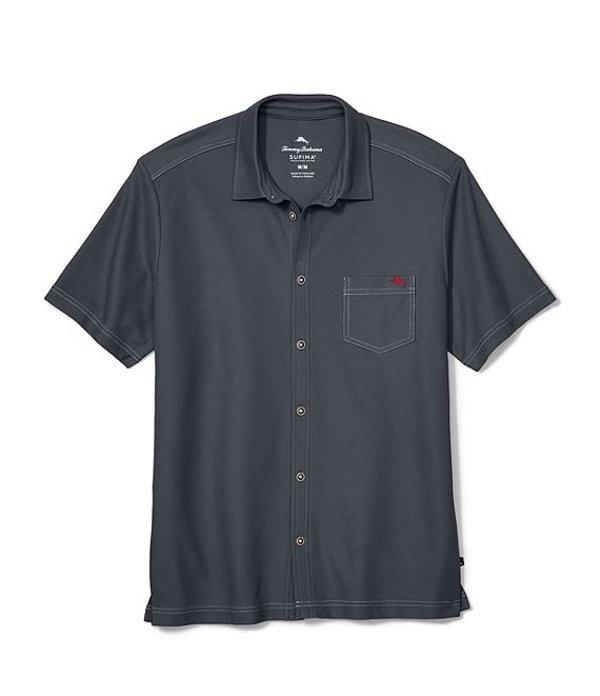 トッミーバハマ メンズ シャツ トップス Emfielder 2.0 Short-Sleeve Knit Camp Shirt High Seas