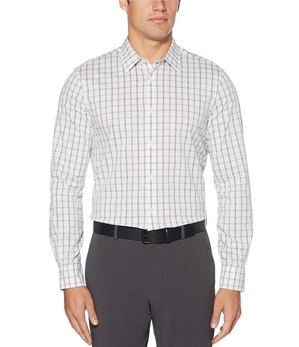 ペリーエリス メンズ シャツ トップス Check Stretch Long-Sleeve Woven Shirt True Blue
