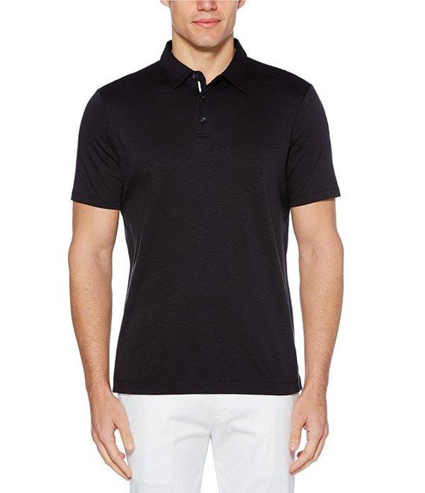 ペリーエリス メンズ シャツ トップス Solid Soft-Touch Short-Sleeve Polo Shirt Black