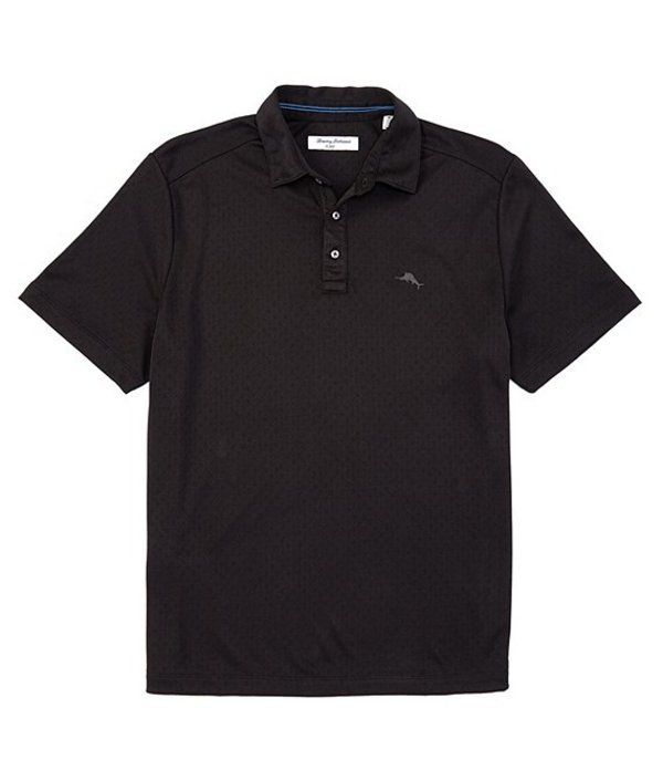 トッミーバハマ メンズ シャツ トップス IslandZone Diamond La Jolla Short-Sleeve Polo Shirt Black