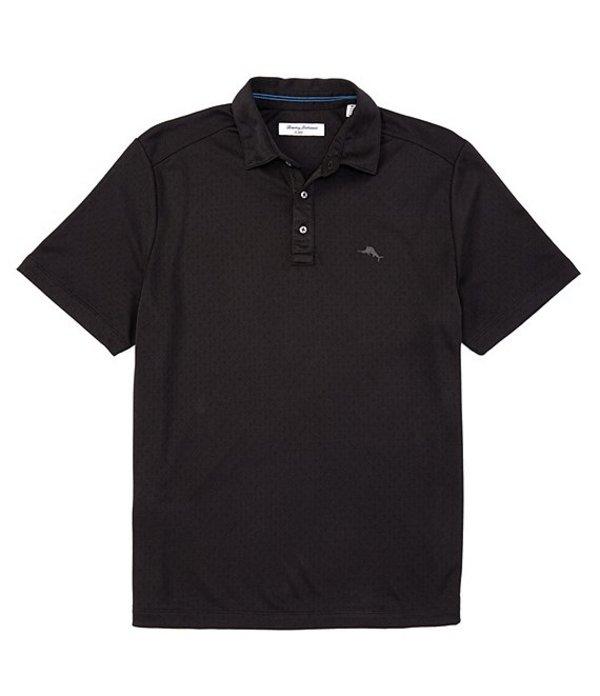トッミーバハマ メンズ シャツ トップス IslandZone Diamond La Jolla Short-Sleeve Polo Shirt Black