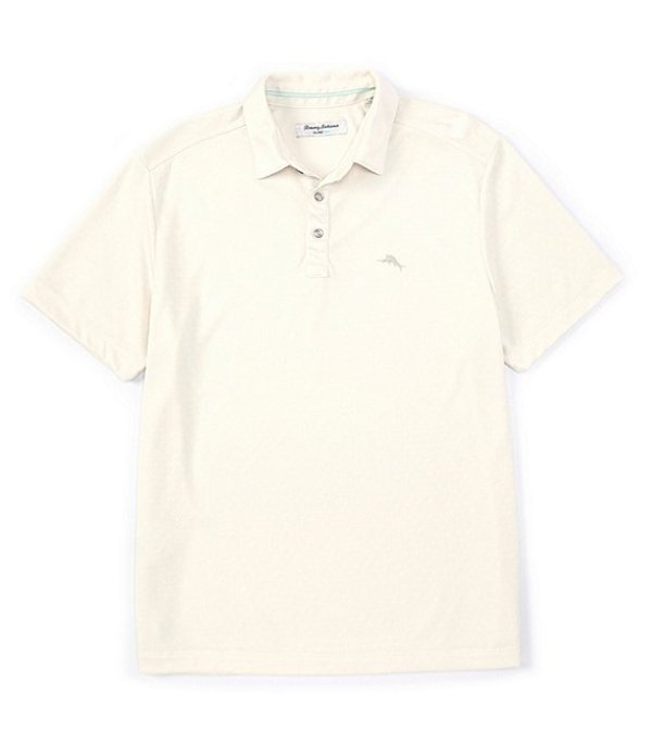 トッミーバハマ メンズ シャツ トップス IslandZone Diamond La Jolla Short-Sleeve Polo Shirt Bleached Sand