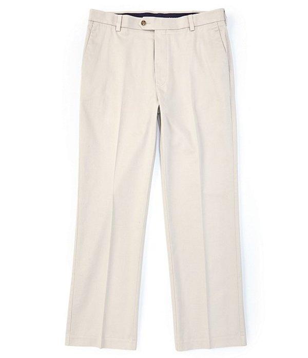 ラウンドトゥリーアンドヨーク メンズ カジュアルパンツ ボトムス TravelSmart CoreComfort Big & Tall Flat-Front Classic Relaxed Fit Chino Pants Stone