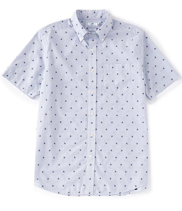 サウザーンタイド メンズ シャツ トップス Sink Or Swim Clip Short-Sleeve Woven Shirt Seven Seas Blue