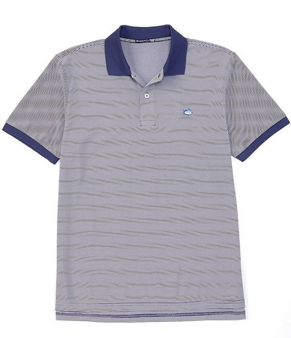 サウザーンタイド メンズ シャツ トップス Jack Dinghy Stripe Performance Stretch Short-Sleeve Polo Shirt Blue Night