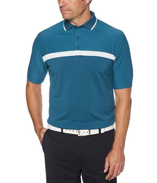 キャラウェイ メンズ シャツ トップス Golf Swing Tech Fine Line Color Block Short Sleeve Polo Shirt Deep Olive